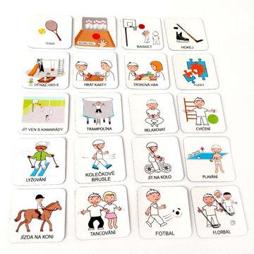 Obrázek Magnetické kartičky – Sportovní aktivity