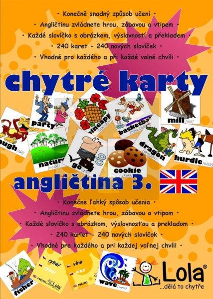 Obrázek Chytré karty Angličtina slovíčka III.