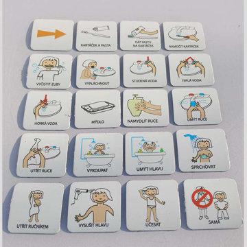 Obrázek Magnetické kartičky – Hygiena 1 (dívka)