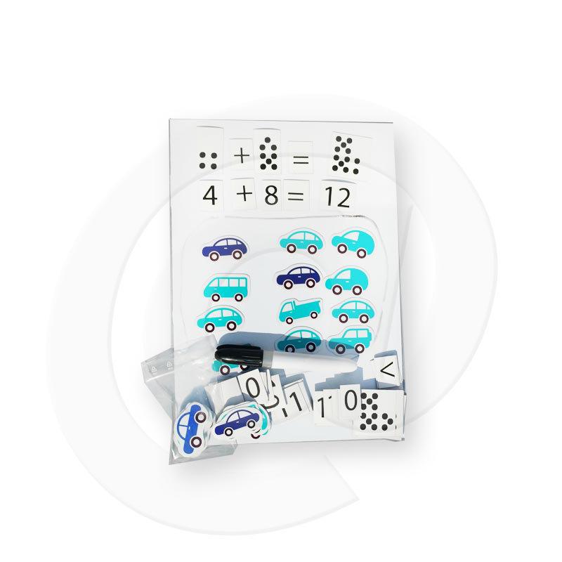 Obrázek Magnetické kartičky - sada – Počítání s autíčky