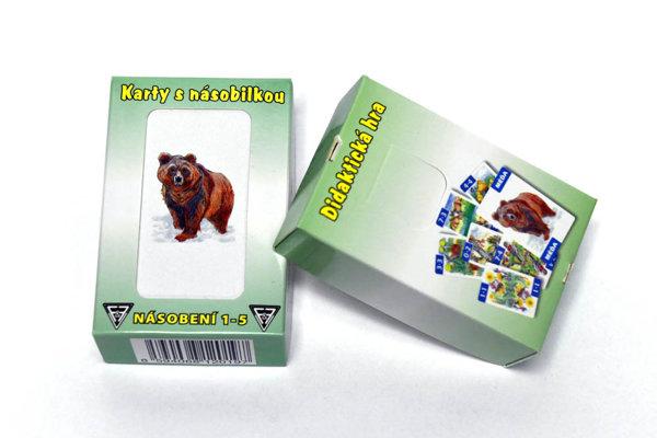 Obrázek Karty s násobilkou: Násobení 1-5