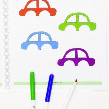 Obrázek Grafomotorická cvičení - Auta a vlaky