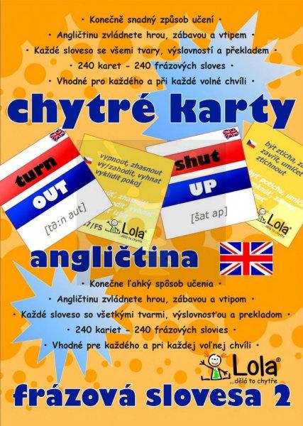 Obrázek Chytré karty Angličtina frázová slovesa II.