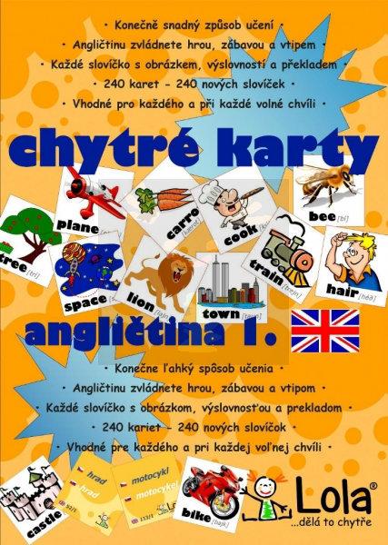 Obrázek Chytré karty Angličtina slovíčka I.