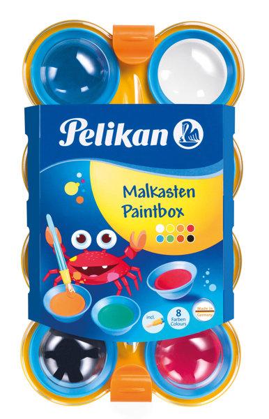 Obrázek Vodové barvy 8 barev dětské, Peli