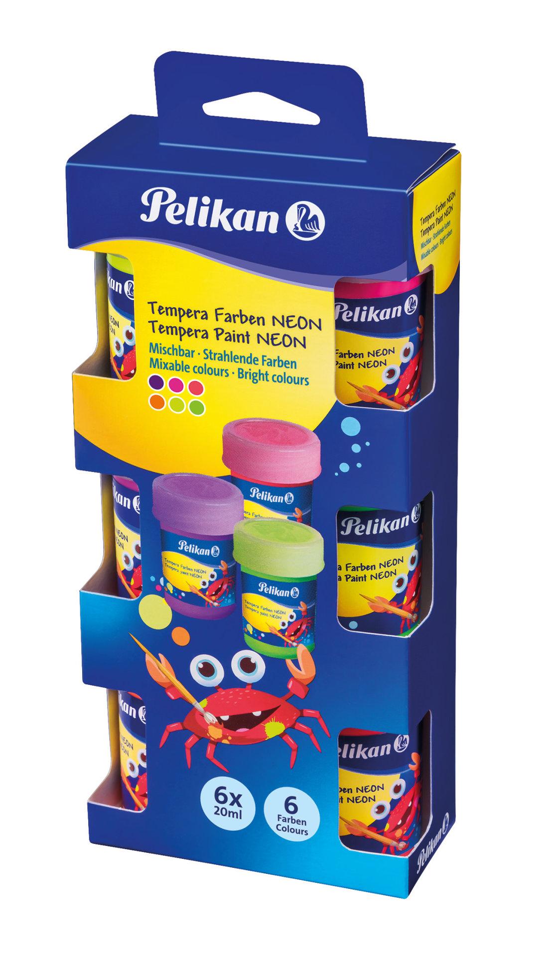 Obrázek Tempery Pelikan, sada 6 neonových barev