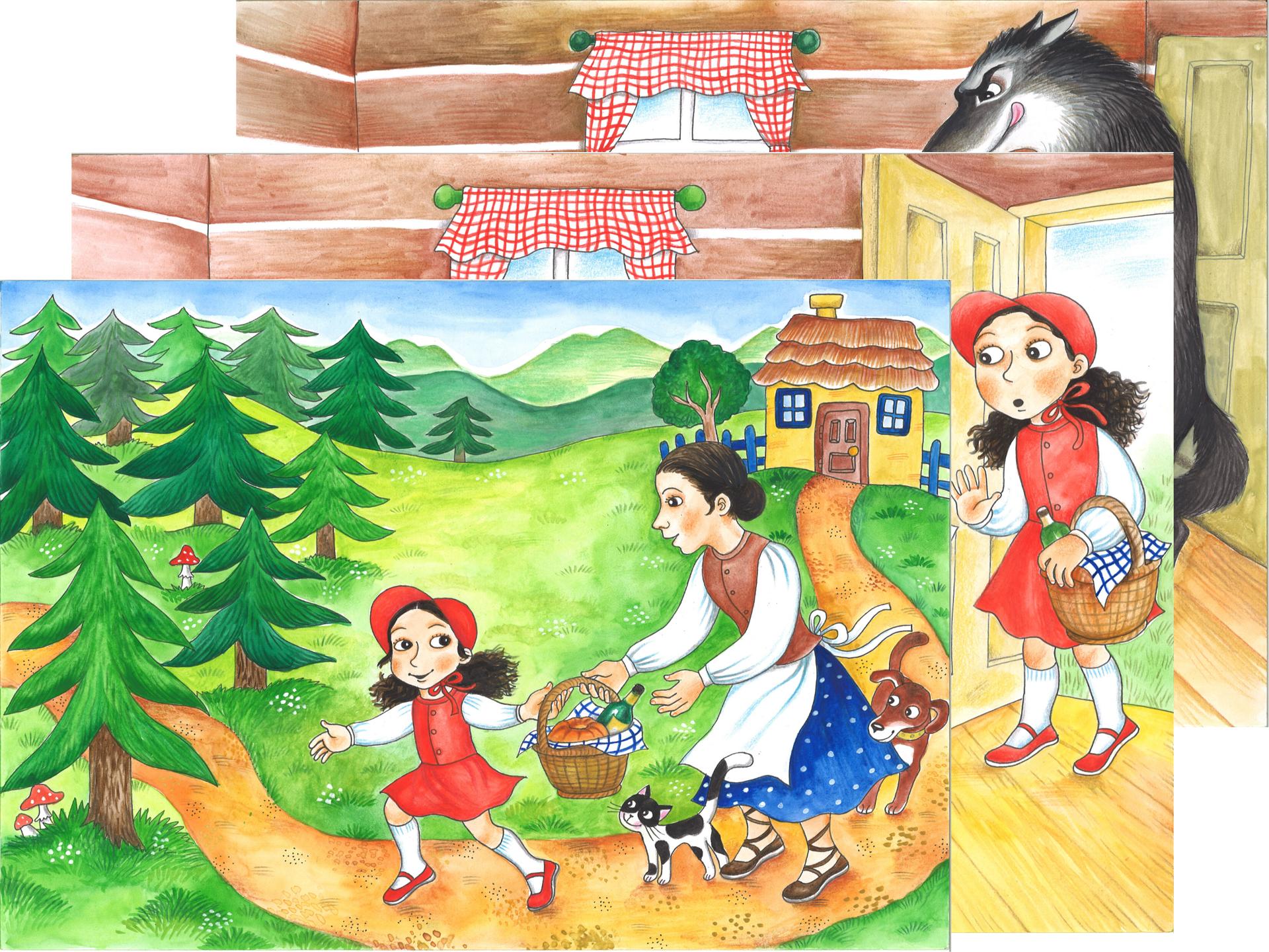 Obrázek Pohádka z kufříku: Červená Karkulka