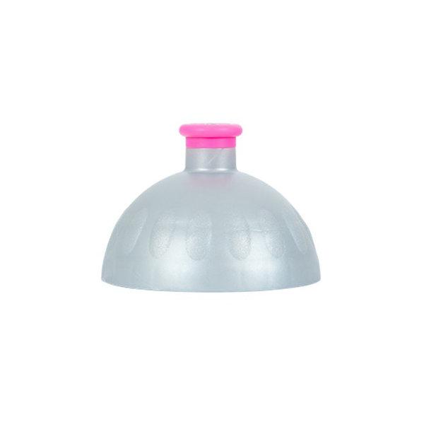 Obrázek Víčko stříbrné/zátka fialová fluo
