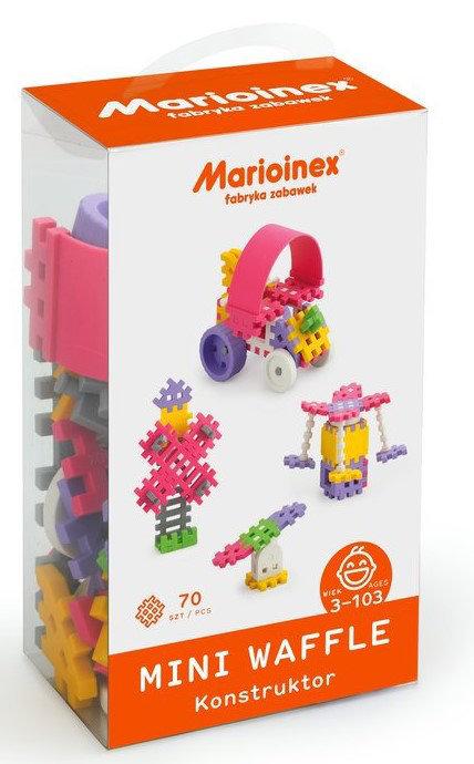 Obrázek Marioinex MINI WAFLE – 70 ks Konstruktér (dívky)
