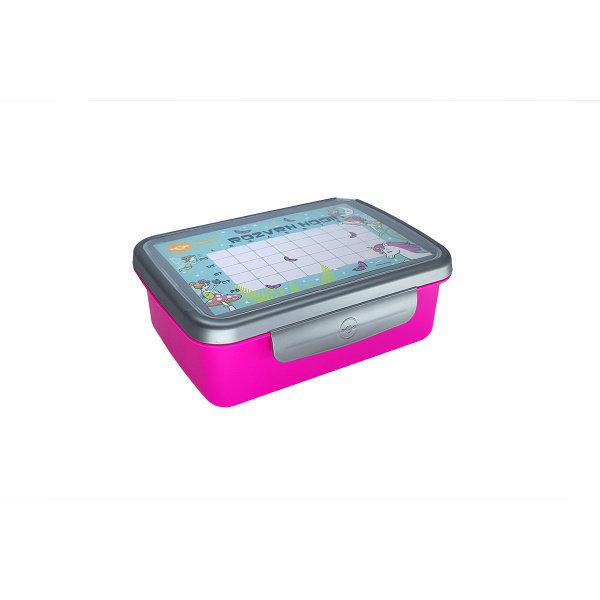 Obrázek Zdravá sváča komplet box FLUO fialová/nerez