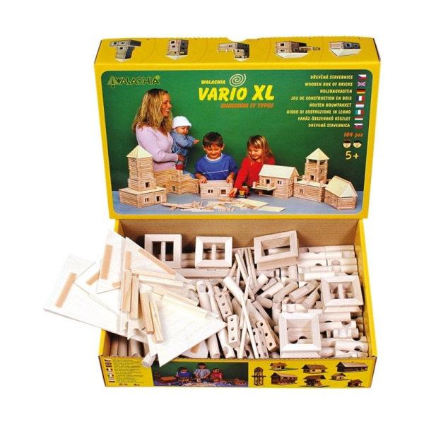 Obrázek Walachia Dřevěná stavebnice Vario XL 184 dílů