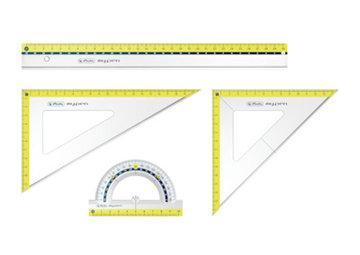 Obrázek Sada pravítek pro geometrii my.pen
