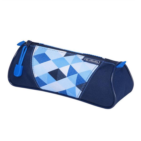 Obrázek Pouzdro trojúhelníkové Modré kostky