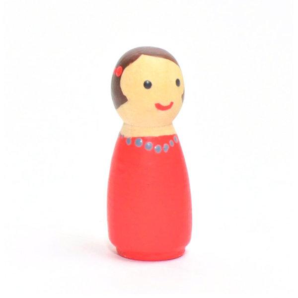Obrázek Dřevík holčička barevná