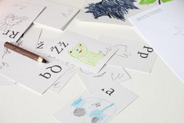 "Obrázek Sada kartiček ""Dokresli si abecedu"""