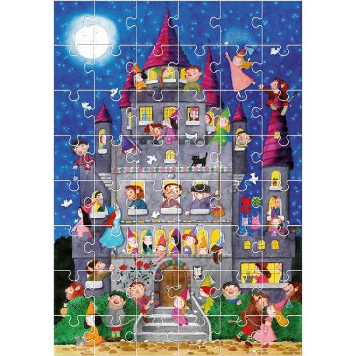 Obrázek Obří podlahové puzzle - Hrad - 48 dílů