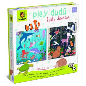 Obrázek Detektivní puzzle s velkými díly - Lesní a mořská zvířátka