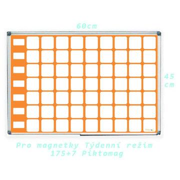 Obrázek Komunikační magnetická nástěnka – týdenní režim – horizontální NOVÝ TYP