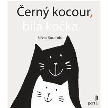 Obrázek Černý kocour, bílá kočka