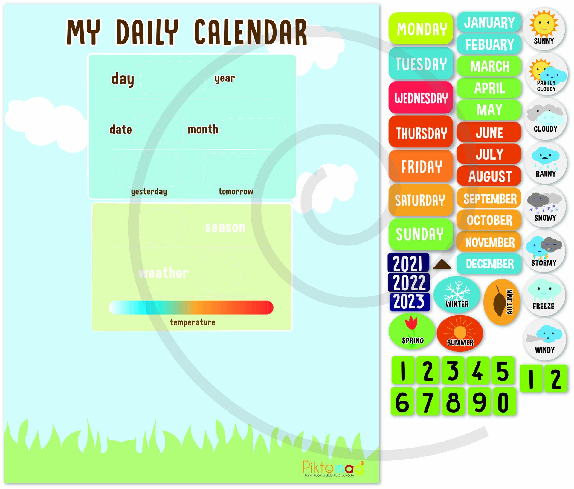 Obrázek My Daily Calendar - Můj denní kalendář