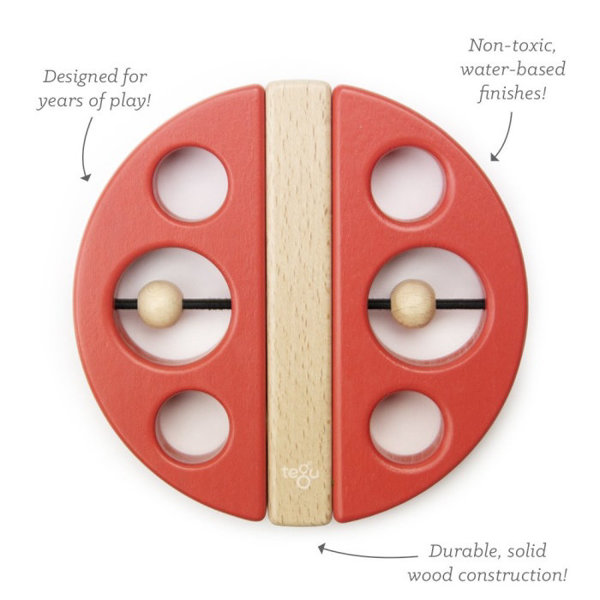 Obrázek Magnetická hračka TEGU - Swivel Bug - Poppy Red