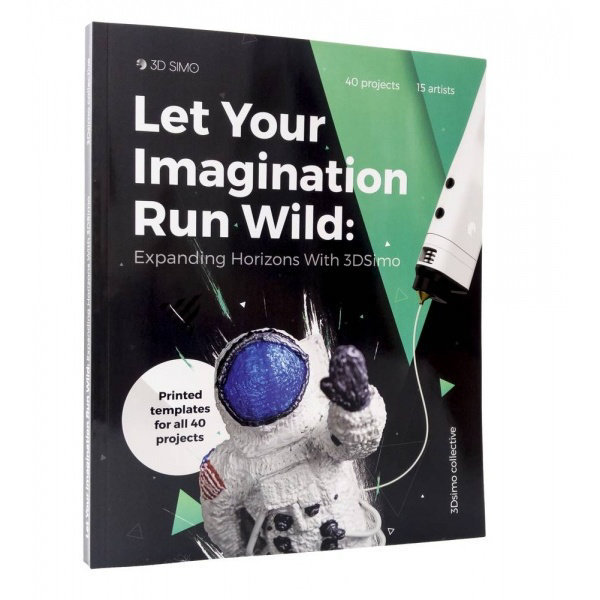 Obrázek 3DSimo Kniha pro 3D pera - pokročilá (anglicky)