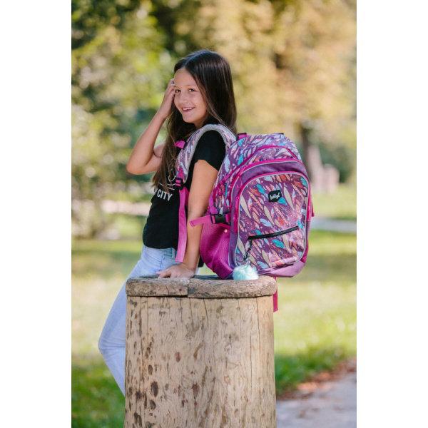 Obrázek SET 3 Pírka: batoh, penál, sáček