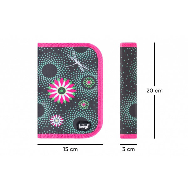 Obrázek SET 3 Květiny: aktovka, penál, sáček