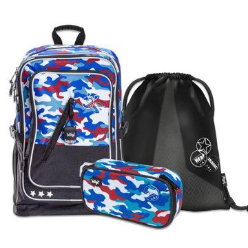 Obrázek SET 3 Cubic Army: batoh, penál, sáček