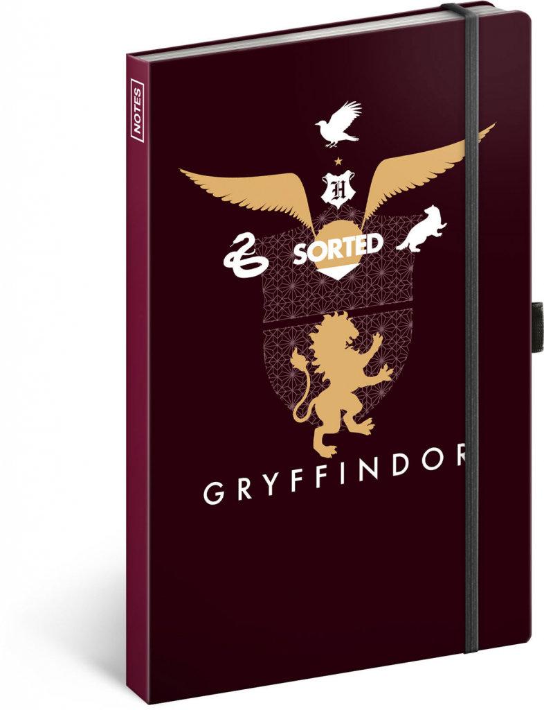 Obrázek Notes Harry Potter – Gryffindor, linkovaný, 13 × 21 cm