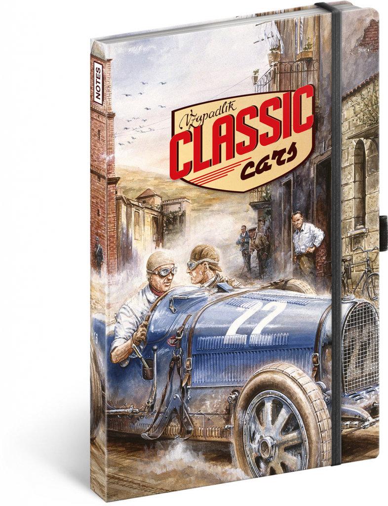 Obrázek Notes Classic Cars – Václav Zapadlík, linkovaný, 13 × 21 cm