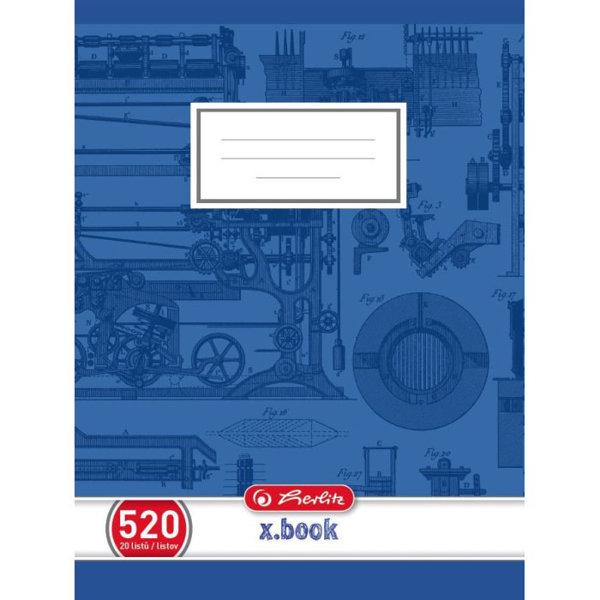 Obrázek Školní sešit 520, A5/20 listů, čistý