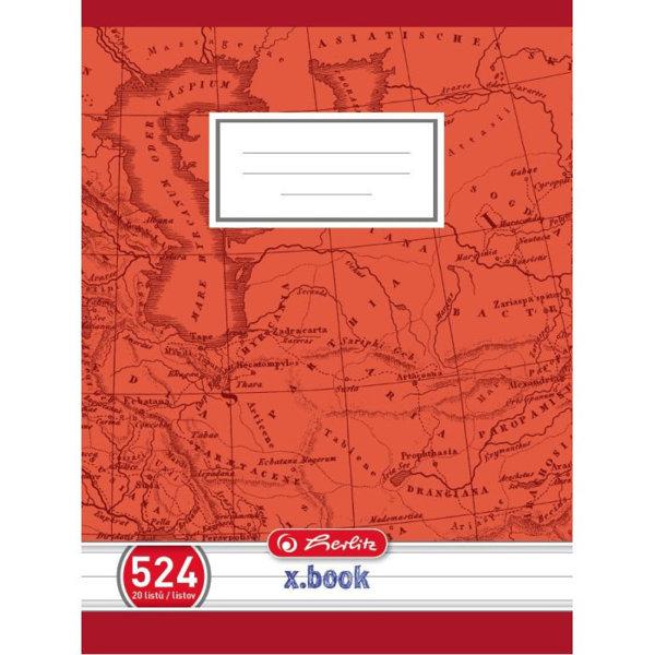 Obrázek Školní sešit 524, A5/20 listů, linka s okrajem