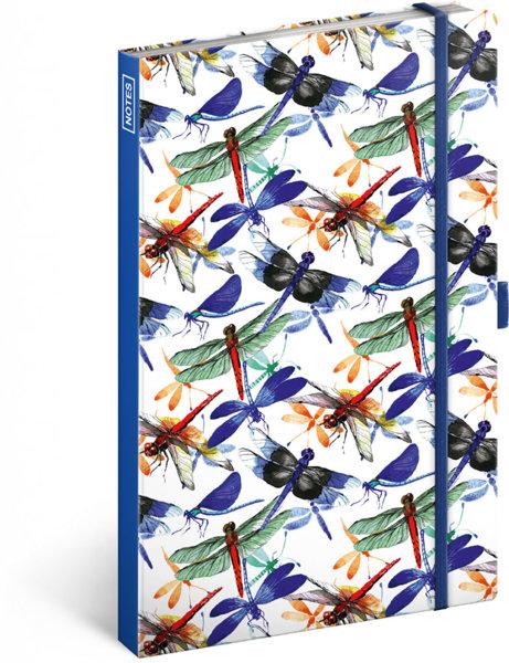 Obrázek Notes Vážky, linkovaný, 13 × 21 cm