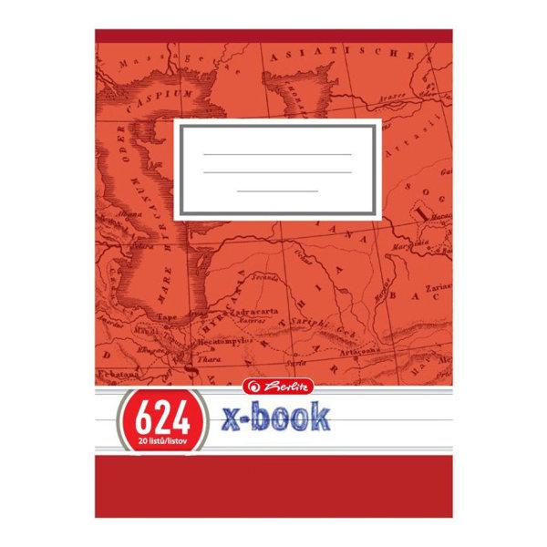 Obrázek Školní sešit 624, A6/20 listů, linka