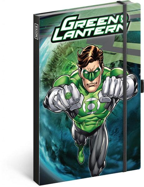 Obrázek Notes Green Lantern, linkovaný, 13 × 21 cm