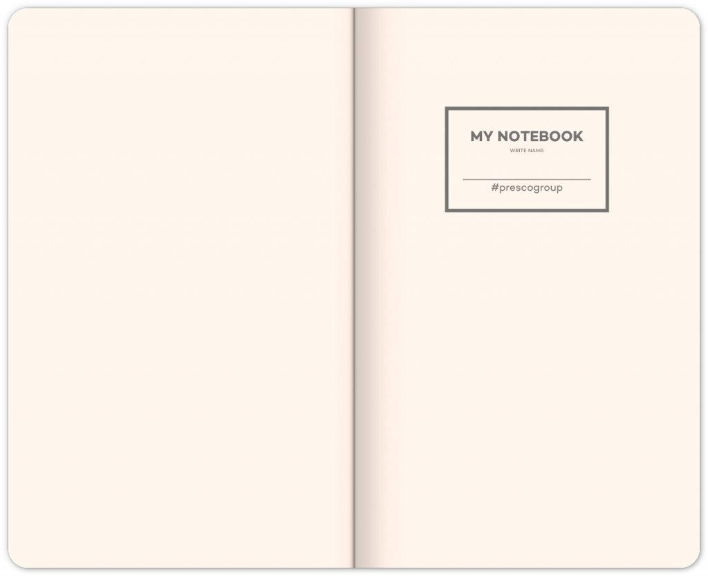 Obrázek Notes Černý, linkovaný, 13 × 21 cm