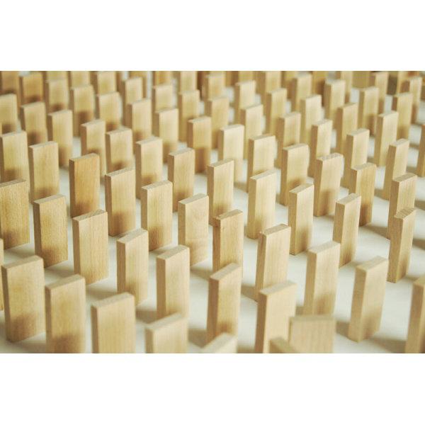 Obrázek EkoToys Dřevěné domino přírodní 830 ks