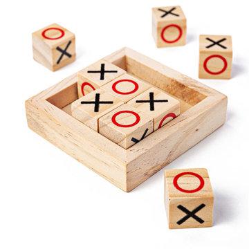 Obrázek Bigjigs Toys Dřevěné piškvorky kostky