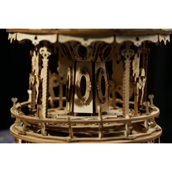 Obrázek RoboTime 3D skládačka hrací skříňky Romantický kolotoč