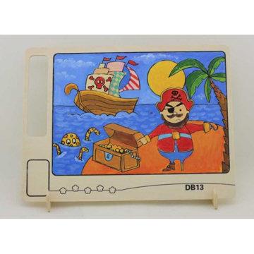 Obrázek RoboTime Dřevěná oboustranná omalovánka pirát