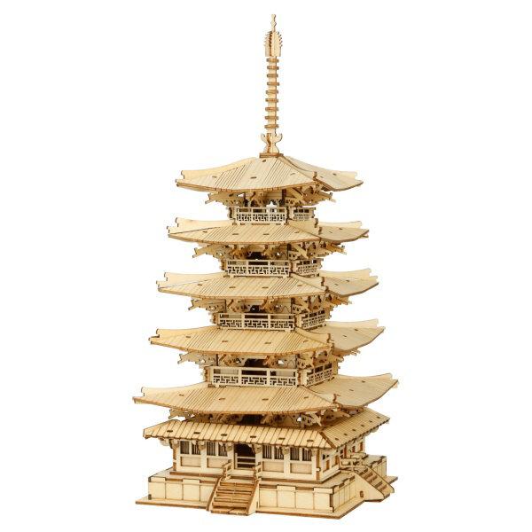 Obrázek RoboTime dřevěné 3D puzzle Pětipatrová pagoda
