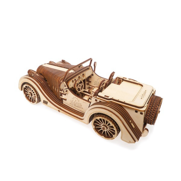 Obrázek Ugears 3D dřevěné mechanické puzzle VM-01 Auto (roadster)