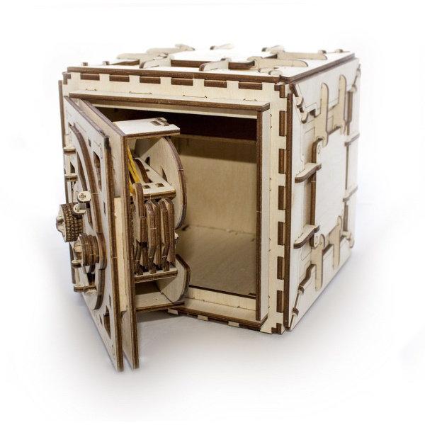 Obrázek Ugears 3D dřevěné mechanické puzzle Trezor