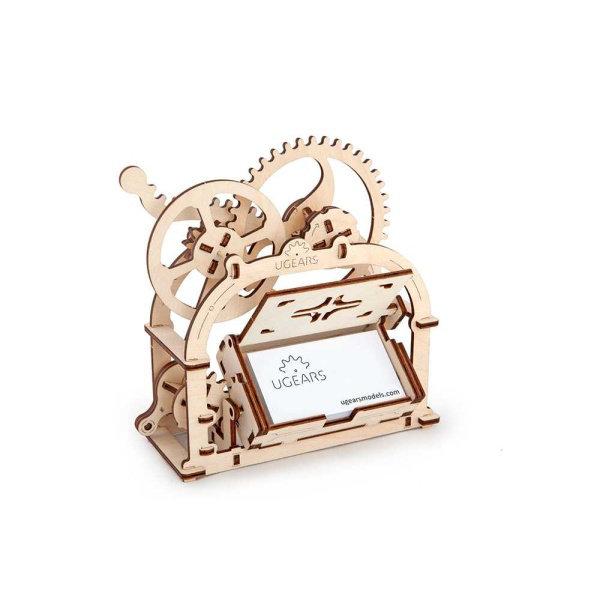 Obrázek Ugears 3D dřevěné mechanické puzzle Box na vizitky