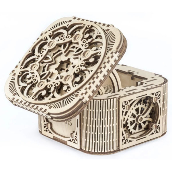 Obrázek Ugears 3D dřevěné mechanické puzzle Šperkovnice