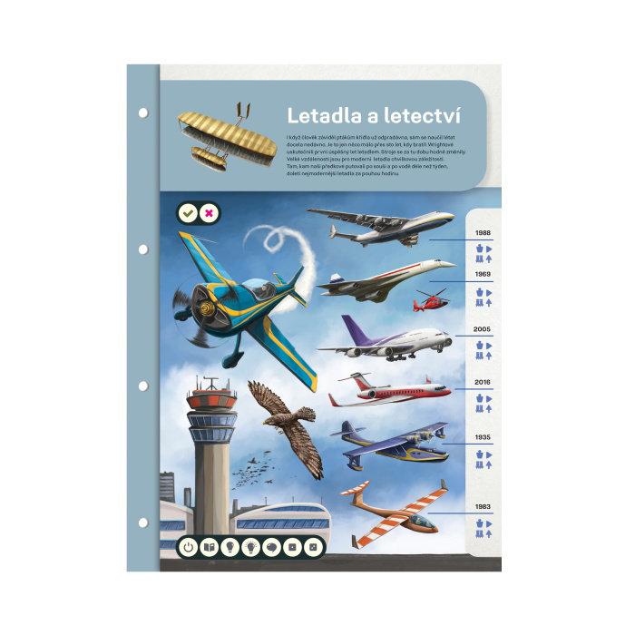 Obrázek Kouzelné čtení - Dvoulist Letadla a letectví