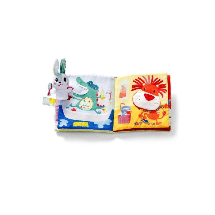 Obrázek Lilliputiens - Textilní knížka - Králíček zubařem