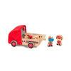 Obrázek Lilliputiens - dřevěný hasičský vůz a nosorožec Marius