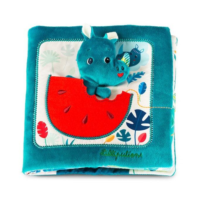 Obrázek Lilliputiens - nosorožec Marius hledá tatínka - textilní knížka